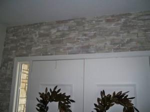 brick archway faux